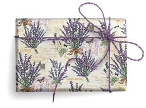 CARTA DECORATIVA CON ORO LAVANDA