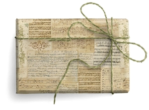 CARTA DECORATIVA CON ORO SHEET MUSIC