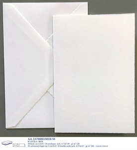 MEDIOEVALE BOX 50/50 12X18 DOUBLE CARDS GENTLE CUT WHITE