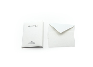 MEDIOEVALE PORTFOLIO SMALL SIZE 10/10 7,5X11 GENTLE CUT WHITE