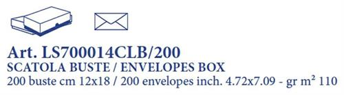 CLASSICA 200 ENVELOPES BOX 12X18 WHITE